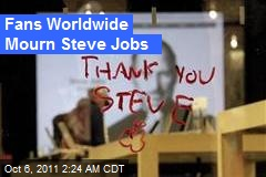 Fans Worldwide Mourn Steve Jobs
