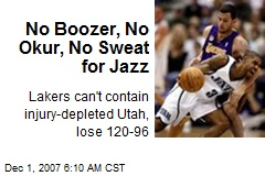 No Boozer, No Okur, No Sweat for Jazz
