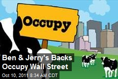 Ben & Jerry's Backs Occupy Wall Street