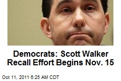 Dems Set Timeline for Scott Walker Recall
