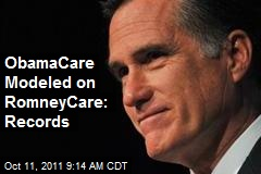ObamaCare Modeled on RomneyCare: Records