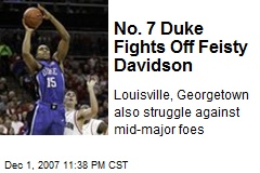 No. 7 Duke Fights Off Feisty Davidson