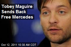 Vegan Tobey Maguire Sends Back Leather-Seated Mercedes