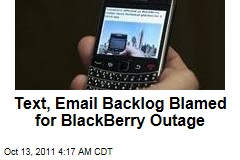 BlackBerry Service Outage Blamed On Network Failure