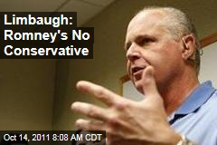 Rush Limbaugh: Mitt Romney Is No Conservative
