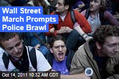 Occupy Wall Street March Prompts Police Brawl