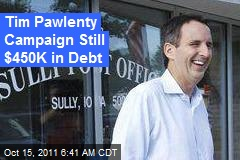 Tim Pawlenty Campaign Still $450K in Debt