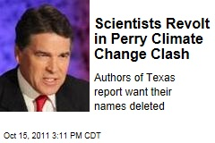 Rick Perry Officials in Texas Spark Climate Change Battle by Altering Environmental Report