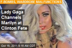 Gaga Channels Marilyn at Clinton Fete