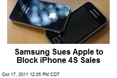 Samsung Sues Apple to Block iPhone 4S Sales