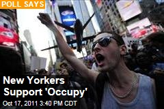 New Yorkers Support Occupy Wall Street Movement: Poll