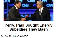 Perry, Paul Sought Energy Subsidies They Bash