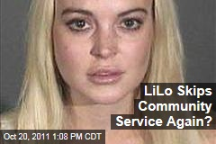 Lindsay Lohan Skips Community Service Again? Shows up Late to Morgue