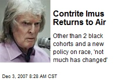 Contrite Imus Returns to Air