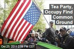 Tea Party, Occupy Wall Street Members Find Political Common Ground