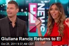 Giuliana Rancic Returns to E!