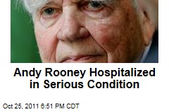 Former '60 Minutes' Host Andy Rooney Hospitalized in Serious Condition