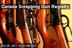 Canada Scrapping Gun Registry