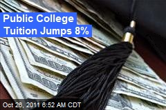Public College Tuition Jumps 8%