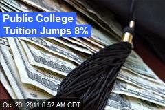 Public College Tuition Jumps 8%