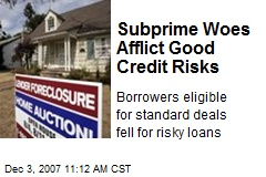 Subprime Woes Afflict Good Credit Risks