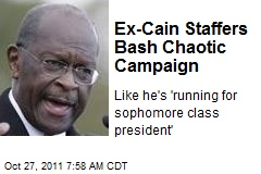 Ex-Cain Staffers Bash Chaotic Campaign