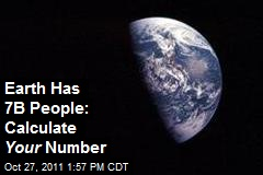 Earth Has 7B People: Calculate Your Number