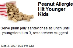 Peanut Allergies Hit Younger Kids