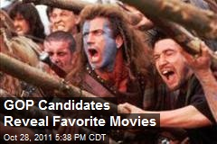 GOP Candidates Reveal Favorite Movies