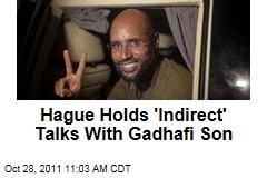 International Criminal Court in the Hague Holds 'Indirect' Talks With Saif al-Islam Gadhafi
