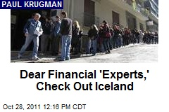 Dear Financial 'Experts,' Check Out Iceland
