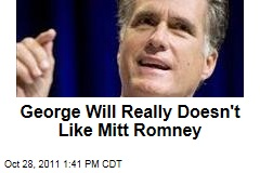 George Will Bashes Mitt Romney's Conservative Credentials