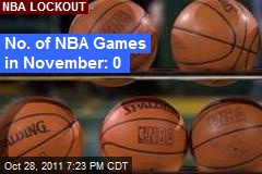 No. of NBA Games in November: 0
