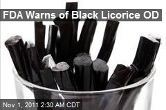 FDA Warns of Black Licorice OD