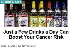 Just a Few Drinks a Day Can Boost Your Cancer Risk