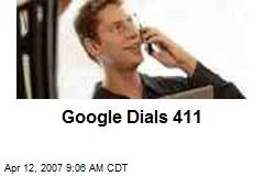 Google Dials 411