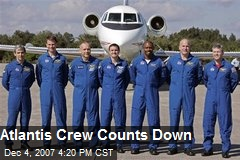 Atlantis Crew Counts Down