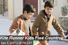 Kite Runner Kids Flee Country