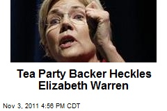 Elizabeth Warren Scraps With Tea Party Heckler
