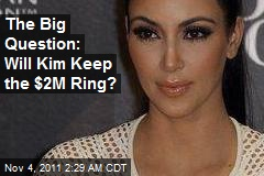 Kim Should Keep $2M Ring From Kris: Mom