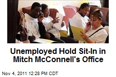 Unemployed Hold Sit-In in Mitch McConnell's Office