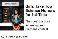 Girls Take Top Science Honors for 1st Time