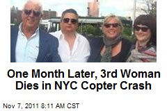 One Month Later, 3rd Woman Dies in NYC Copter Crash