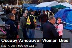 Occupy Vancouver Woman Dies