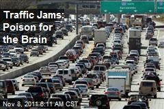 Traffic Jams: Poison for the Brain