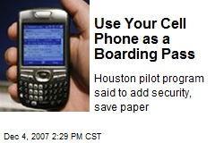 Use Your Cell Phone as a Boarding Pass