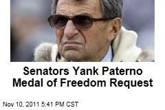 Two Senators Yank Their Presidential Medal of Freedom Request for Joe Paterno