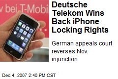 Deutsche Telekom Wins Back iPhone Locking Rights
