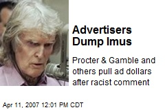 Advertisers Dump Imus