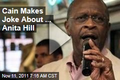 VIDEO: Herman Cain Makes Anita Hill Joke